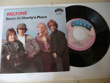 """WELTONS"""" DOWN AT SHORTY'S PLACE-DISCO 45 GIRI 7'-BUBBLE It 1981-PERFECT"""