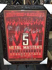 Metal Masters Signed Poster Pantera, Megadeth, Slayer, Dream Theater Anthrax JSA