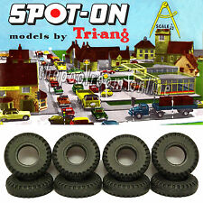 TRI-ANG  SPOT-ON TYRES x 10 - 15.5mm - FOR SMALL HUB CARS