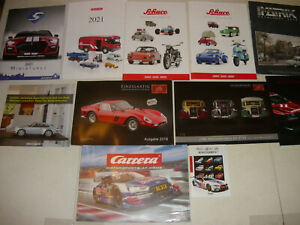 Konvolut 8 Kataloge Auto Mod. v. Verschiedene Firmen-Schuco,Wiking,Carrera NEU!
