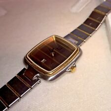 Vintage Alfred Dunhill Women / Unisex Quartz Watch Stainless Steel & Gold Plate