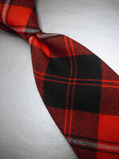 NWT! BROOKS BROTHERS Red Plaid Slim Wool Neck Tie  MSRP $79.50 ~ NEW