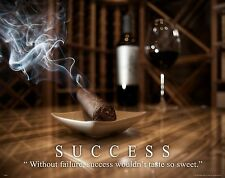 Wine Tasting Cigar Motivational Poster Print Rack Glasses Humidor Cooler MVP408