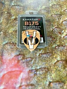 Packets of 25 Kamasan B175 Traditional Heavy Wire Trout Hooks Sizes 6 to 16