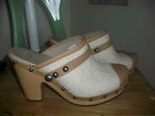 UGG 1000490 Textile Sheeling Woven Sheepskin-leather  Clogs  sz 8