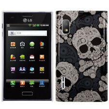 HardCase Backcover für LG E610 Optimus L5 Totenköpfe schwarz grau Hülle Cover