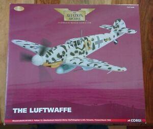 """Corgi AA34906 Messerschmitt Bf109G-2 """"YELLOW 12"""" Heinrich Ehrler Ltd Edition"""