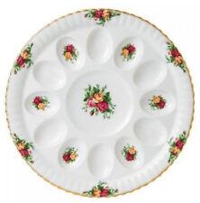 "Royal Albert Old Country Roses Deviled Egg Plate Dish Platter 11.75"" New"