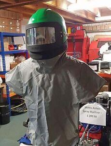 Nova 2000 Shotblast Helmet. Air Fed Sand Blast Helmet, Nova Grit Blast Helmet