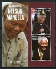 Togo 2014 MNH Nelson Mandela in Memoriam 2v S/S II Politicians Stamps