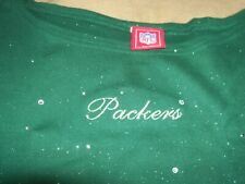 Green Bay Packers Nfl For Her Tank Top With Sequins Size L New No Tag