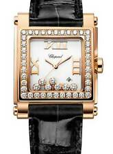 Chopard Happy Sport 18k Rose Gold & Diamond MOP Womens Quartz Watch 27/5321