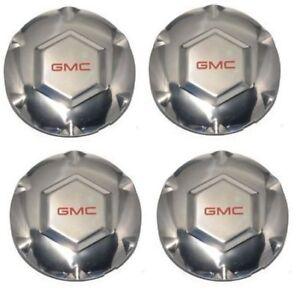 "4pcs NEW 02-07 ENVOY XL XUV Chrome WHEEL CENTER HUB CAPS 6 SPOKE 17"" Rim For GMC"