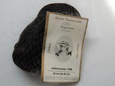 Puppenperücke Human Hair Langhaar mit Pony schwarz KU 28-29-NEU