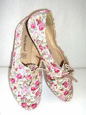 Ballerina / Loafer Rosa Blumenmuster Gr. 38
