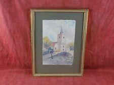 Beautiful evocative watercolour landscape Painting, signed Barling Eathshaw 1968