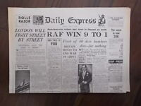 DAILY EXPRESS WWII NEWSPAPER JULY 15th 1940 - BATTLE OF BRITAIN