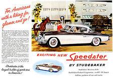 1955 Studebaker  Speedster Dealer Showroom Wall Chart  11 x 14  Giclee Print