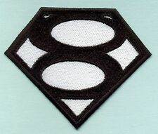 """3.4"""" x 4"""" Small Embroidered Smallville 'The Blur' style Superman Logo Patch"""