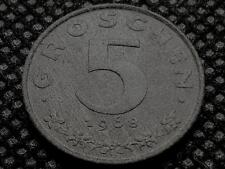 AUSTRIA 5 GROSCHEN 1968 COIN GOOD Cond but DARK