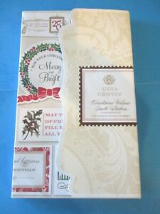 Anna Griffin CHRISTMAS VELLUM QUOTE STICKERS 102 Pcs NEW Words SENTIMENTS