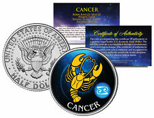 CANCER Horoscope Astrology Zodiac JFK Kennedy US Colorized Half Dollar Coin