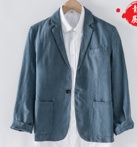 Men's British Style Linen Suit Jacket Men's Casual Suit Loose Casual Clothes