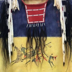 Plains Indian Style War Shirt. Northern Cheyenne Reproduction.