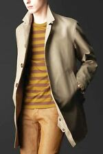 $2,695 RUNWAY Burberry Prorsum US 38 Men Cotton Linen Trench Coat Father ITALY