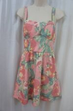 As U Wish Juniors Dress Sz 13 Pink Green Denim Sweetheart Casual Party Tea Dres