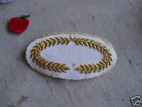 VINTAGE Uniform Patch Gold Wreaths LOOK