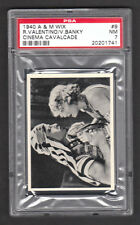 Rudolph Valentino 1940 A&M Wix Cinema Cavalcade Card #9 PSA 7 NM