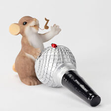 Charming Tails You're My Idol Mouse Singing Microphone Figure Enesco 4027099