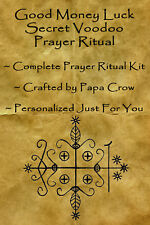 Good Money Luck Voodoo Prayer Ritual Kit Midas Touch Gold Cash Income Investment
