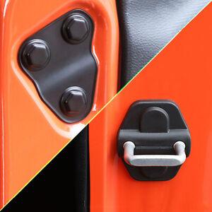 Door Lock Cover Screw Protector Trim For Jeep Wrangler JL JT Willys 2018-2021