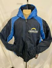 NEW San Diego Chargers Zip lined Jacket Hooded Winter Coat NFL SD Bolts X-Large