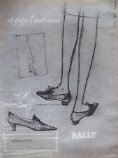 PUBLICITÉ DE PRESSE 1964 CHASSURES BALLY OSERAIE TALON OLIVIER - ADVERTISING