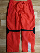 Adidas Vintage Mens Tracksuit Pants Trousers Training Red