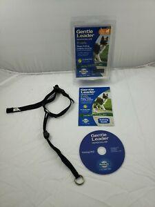 🐶Gentle Leader Headcollar {Medium 24-60 lbs.}Training DVD {Black } 🐶