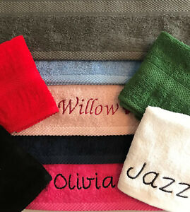 PERSONALISED FACE CLOTH / FLANNEL / HAND TOWEL - SPA / PAMPER / WEDDING / GYM