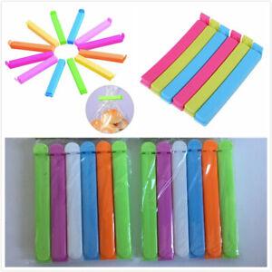 12pcs Bag Clips for Kitchen Storage Food Snack Sealer Clamp Plastic