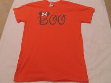 Orange Halloween Minnie Mouse bow Boo t-shirt size small