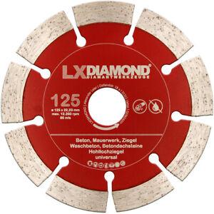 LXDIAMOND Diamant-Trennscheibe 125mm pas. für Eibenstock EMF 125.2 Mauernutfräse