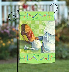Toland Tee Off 12.5 x 18 Golf Ball Sport Golfing Game Garden Flag
