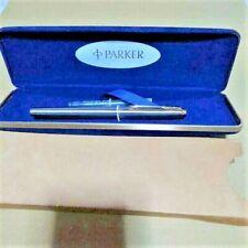 c1985 Vintage Parker 75 GT Flighter Fountain Pen 14K F Nib With Box