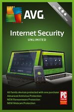 AVG Internet Security 2018, Un-limited Multi-Devices 1 Year (DOWNLOAD VERSION)