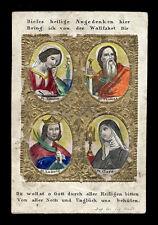 santino incisione 1800 SS.AMALIA TOMMASO LUIGI CHIARA dip. a mano RUDL