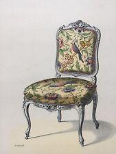 Stampa sedia barocca - senza braccioli - con passe-partout