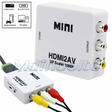 1080p HDMI To AV Composite Converter Audio Video Adapter for PC TV Box PS4 DVD