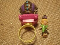Vintage Polly Pocket Bluebird 1994 Crown Surprie Ring Doll - Complete